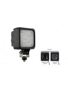Faro cuadrado LED con 3 LED de la marca Wesem | Foco para tractor LED | LeonLeds Iluminación