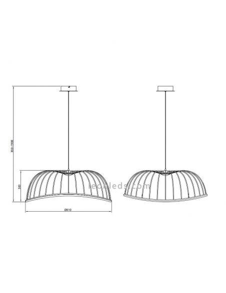Dimensiones Lámpara Colgante LED Blanca Celeste 6680