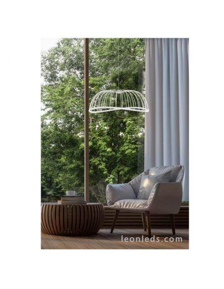 Ambiente Lámpara de techo LED Blanca Celeste Mantr 6680