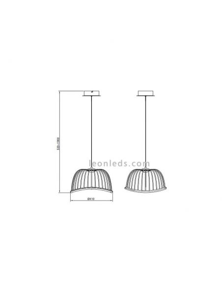 Dimensiones de Lámpara de techo LED circular Negra de Mantra 6685