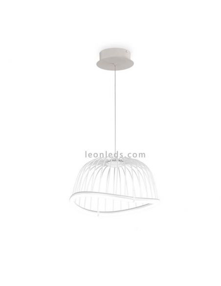 Lámpara de techo LED Vintage blanca serie Celeste de Mantra