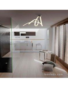 Plafón LED Armonia Cromado Mantra instalada en Baño