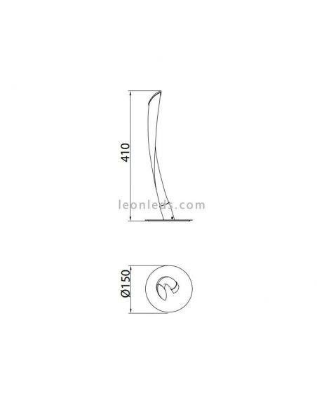 Dimensiones Lámpara de mesa LED Titanio Armonia Cromada 6799