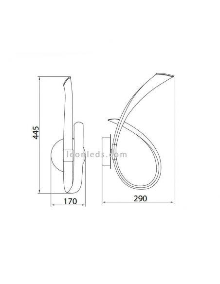 Aplique LED titanio Armonía de Mantra 6796