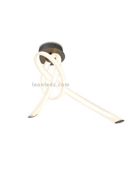 Plafón Blanco y Titanio LED Armonia de Mantra 6794