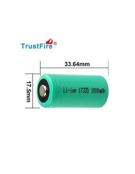 Medidas de Bateria CR123 TrustFire