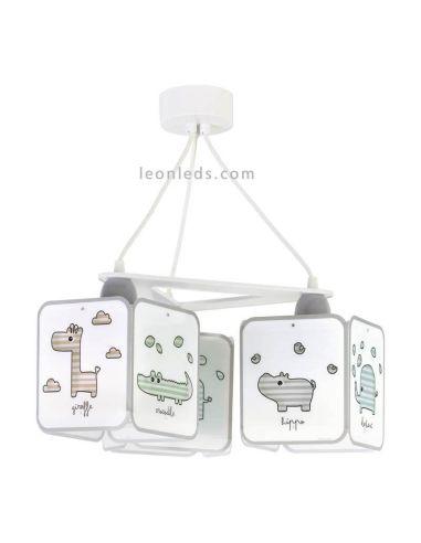 Lámpara infantil Colgante serie Baby Zoo de Dalber | LeonLeds
