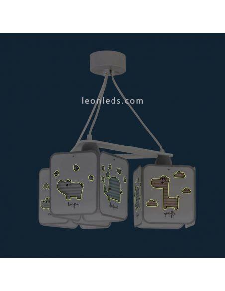 Lámparas infantiles Colgante serie Baby Zoo de Dalber | LeonLeds