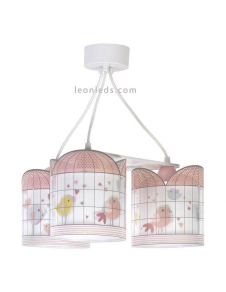 Lámpara colgante 3 luces serie Little Birds de Dalber   LeonLeds