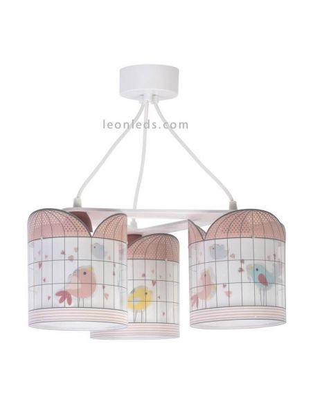 Lámpara de techo infantil 3 luces serie Little Birds de Dabler   LeonLeds
