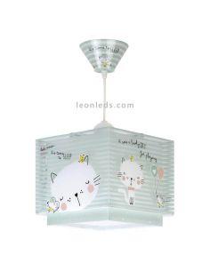 Lámpara infantil Loving Cat 63322 | LeonLeds