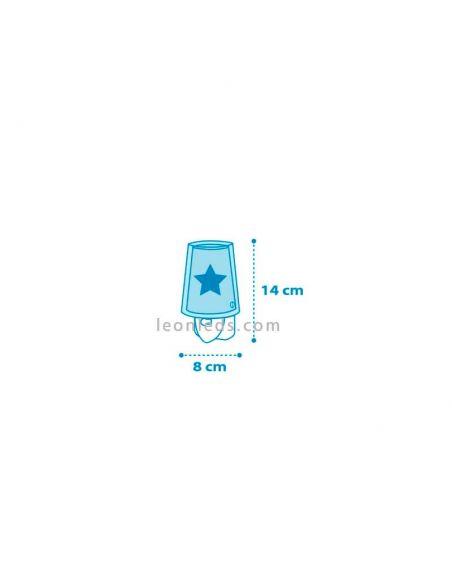 Quitamiedos Infantil LED Estrella azul Light Feeling | LeonLeds