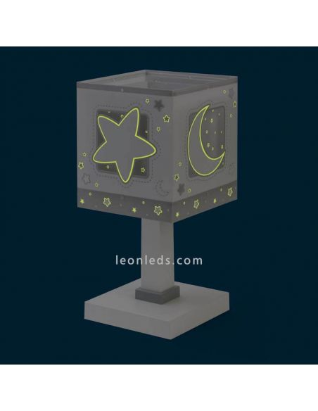 Lámpara de sobremesa Gris Moon Light 63230E   LeonLeds