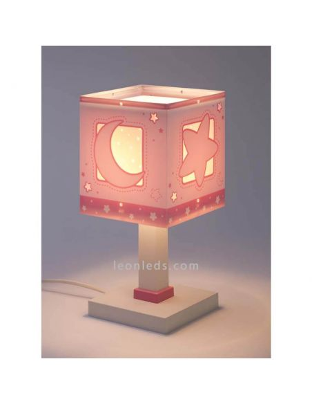 Lámpara de mesa Moon Light Rosa 63230S | LeonLeds
