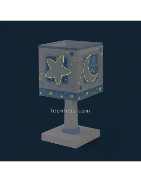 Lámpara sobremesa infantil Azul 63230T de Dalber   LeonLeds