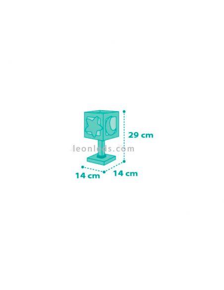 Lámpara de mesa Azul serie Moon Light 63230T