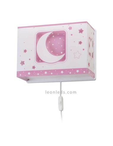 Aplique Infantil Rosa Moon Light 63238S | LeonLeds
