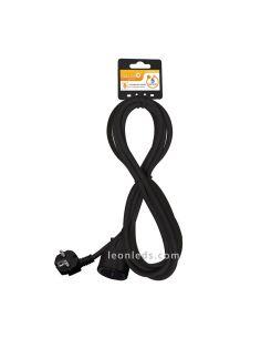 Alargador eléctrico negro barato 5 metros