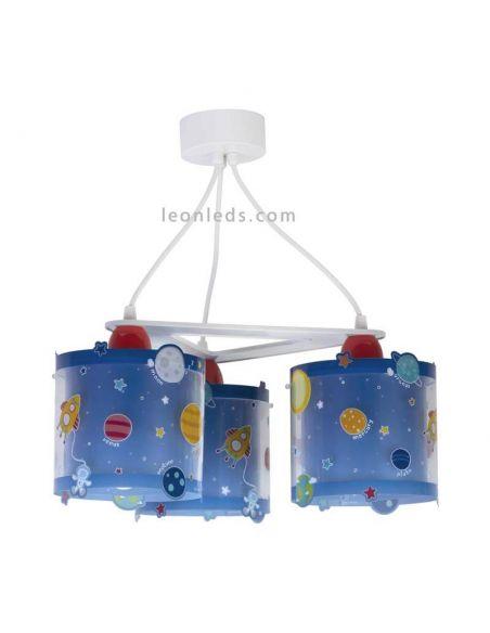 Lámpara de techo Planets con 3 pantallas que brilla en la oscuridad | LeonLeds
