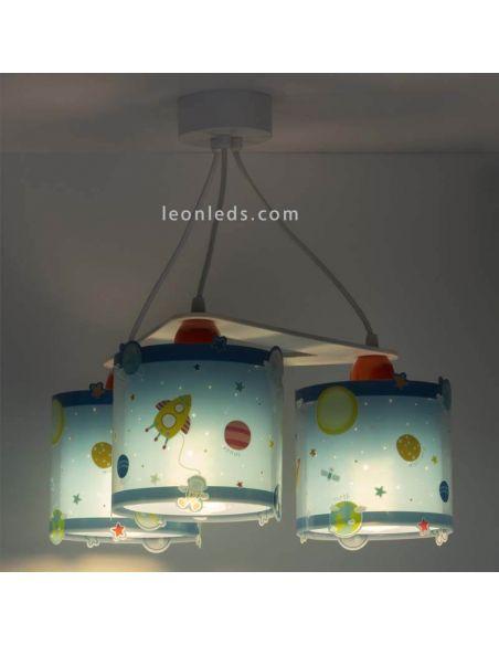 Lámpara de techo infantil con 3 pantalla serie Police de Dalber | LeonLeds