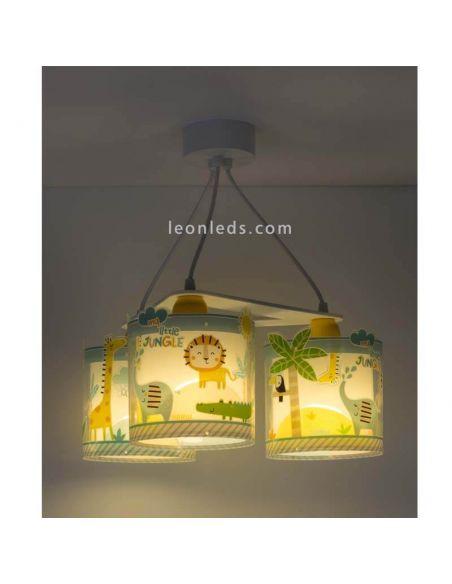 Lámpara infantil con 3 pantallas con un diseño muy original | LeonLeds