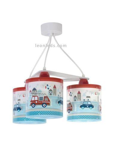 Lámpara de techo 3 luces serie Police de Dalber | LeonLeds Iluminación infantil