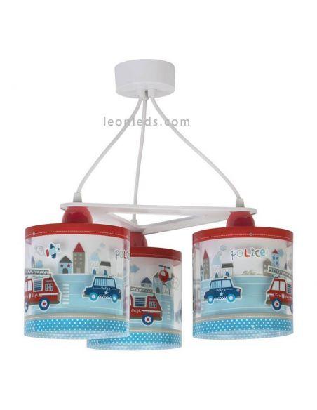 Lámpara de techo 3 luces serie Police de Dalber | LeonLeds