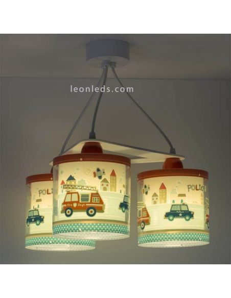 Lámpara de techo 3 pantallas serie Police de Dalber 60614 | LeonLeds
