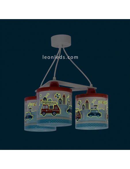 Lámpara de techo infantil 3 luces serie Police