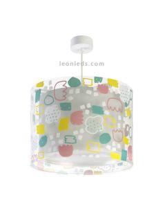 Lámpara infantil de techo multicolor de la serie Secrets de Dalber | LeonLeds