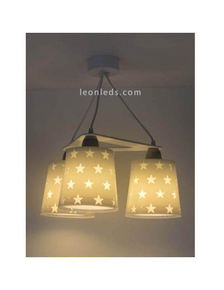 Lámpara de techo Gris de Dalber serie stars   LeonLeds