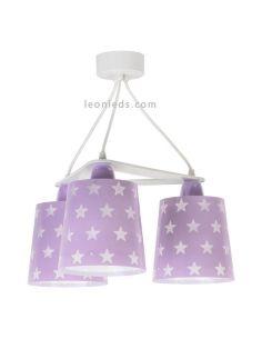 Lámpara de techo 3 pantallas de diseño infantil serie Stars de Dalber | LeonLeds