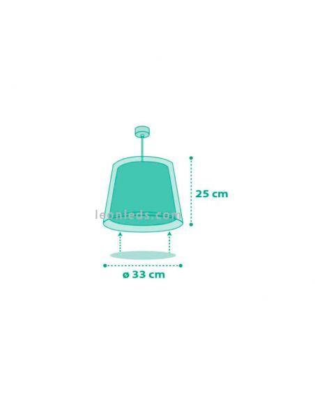 Lámpara de techo infantil verde agua serie Vichy de Dalber | Ⓡ LeonLeds