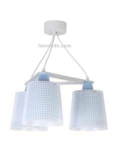 Lámpara de techo Azul 3 luces serie Vichy de Dalber | LeonLeds