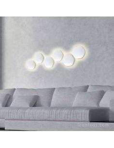 Aplique LED Bora Bora Hexagonal Mantra