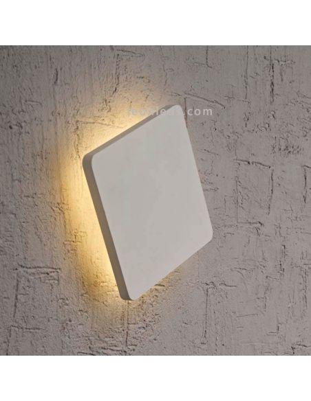 Aplique LED Plateado cuadrado Bora Bora Mantra