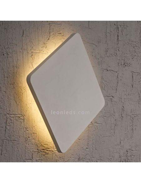 Aplique LED cuadrado plateado