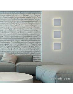 Ambiente Aplique LED cuadrado de color plata