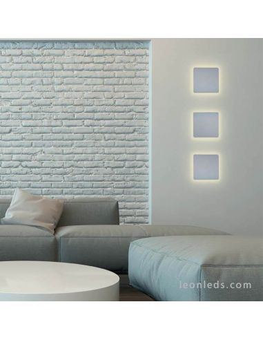 Ambiente Aplique LED cuadrado de color plata