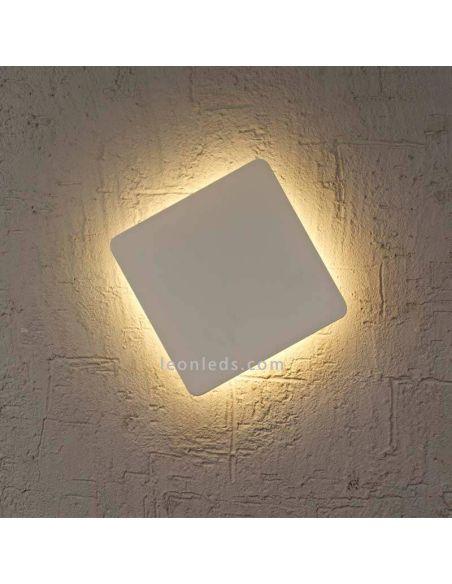 Aplique LED blanco cuadrado