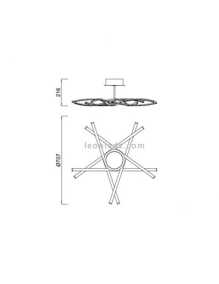 Dimensiones Plafon LED Star de Mantra 6031 5918