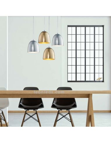 Lámpara de techo Ontario de diseño moderno Plateada y Dorada