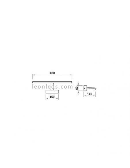 Dimensiones Alumbra cuadros LED moderno 6380