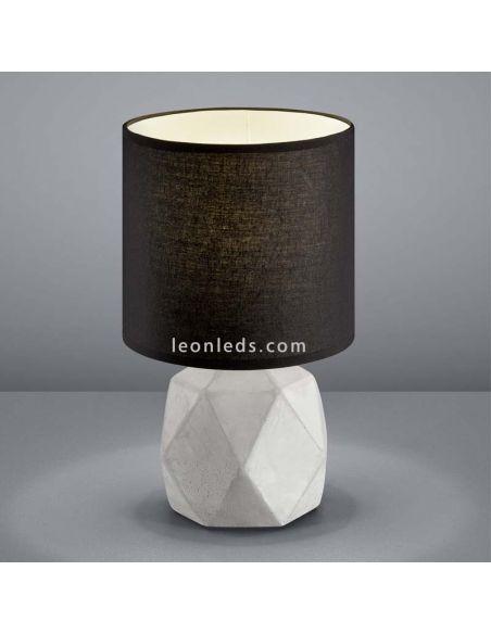 Lámpara de sobremesa Pike Cemento y Negra