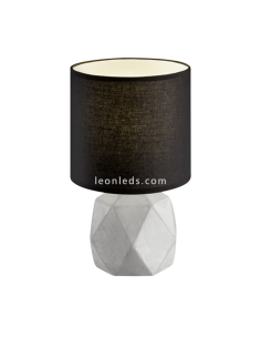 Lámpara de sobremesa Cemento y Negra Pike R50831002