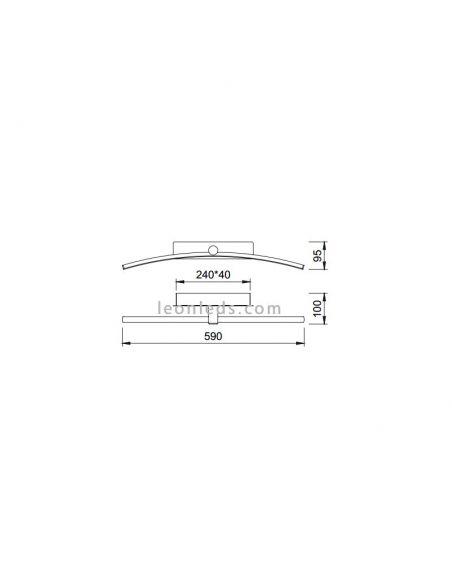 Dimensiones Aplique LED Jeri de Mantra 6371