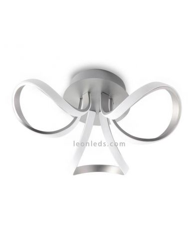 Plafón LED cromado Knot de Mantra 4989 4994