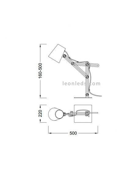 Dimensiones Lámpara Looker Mantra 3615
