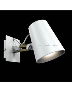 Aplique de pared blanco y madera serie Looker de Mantra 3772