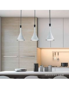 Lámpara de techo regleta 3 Luces Cemento serie Roddik de Trio Lighting
